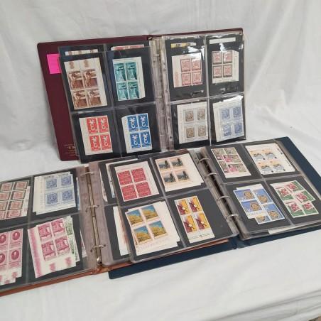 Lotto di 3 album di francobolli quartine Repubblica Italiana