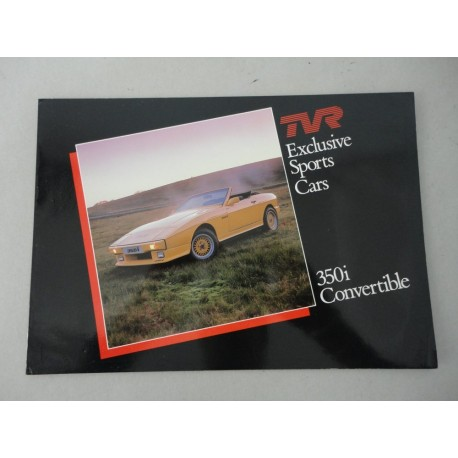 TVR EXCLUSIVE SPORTS CARS 350i CONVERTIBLE BROCHURE AUTO INGLESE 2 PAG. BUONO