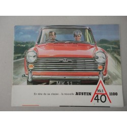 AUSTIN MK II 40 1100 BROCHURE AUTO FRANCESE 6 PAG. STACCATE REF. 2037/E