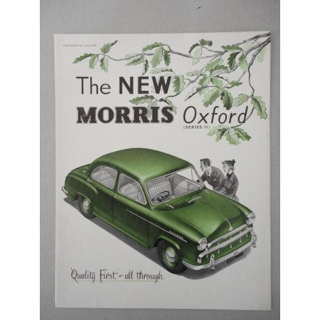 THE NEW MORRIS OXFORD SERIES II BROCHURE AUTO INGLESE 4 PAG. PUB. 88370 OTTIMO