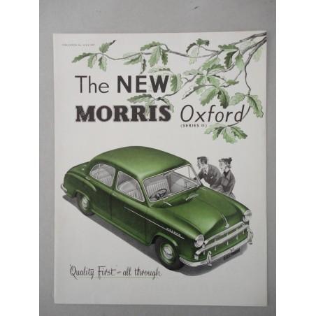 THE NEW MORRIS OXFORD SERIES II BROCHURE AUTO INGLESE 4 PAG. PUB. 88370 OTTIMO