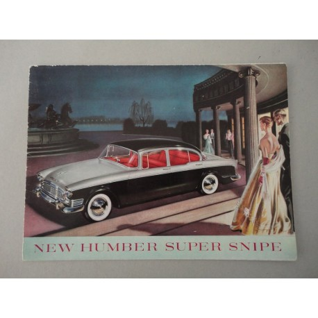 NEW HUMBER SUPER SNIPE BROCHURE AUTO FRANCESE 4 PAG. REF. 5048 LIEVI SPELLATURE