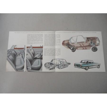 ROVER 2000 BROCHURE AUTO FRANCESE 4 PAG REF. 646 CONDIZIONI DISCRETE