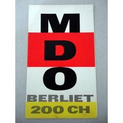 MDO BERLIET 200 CH BROCHURE AUTOCARRO FRANCESE 6 PAG. BUONO
