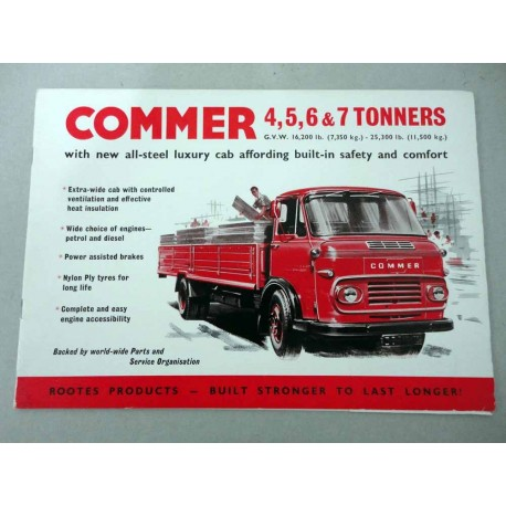 COMMER 4 5 6 7 TONNERS BROCHURE AUTOCARRO INGLESE 8 PAG. PAGINE STACCATE