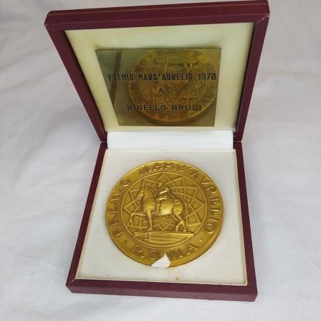 Medaglia uniface PREMIO MARC'AURELIO 1978 a RINELLO BRUSI