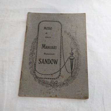 Manuale: MODO DI USARE I MANUBRI PATENTATI SANDOW primo del 900