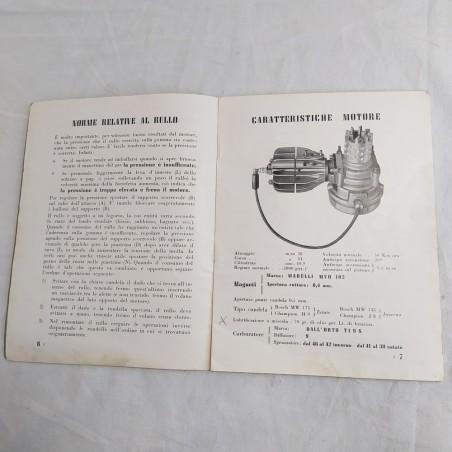 MINI MOTOR libretto istruzioni motore ausiliario per ciclo tardi anni 40