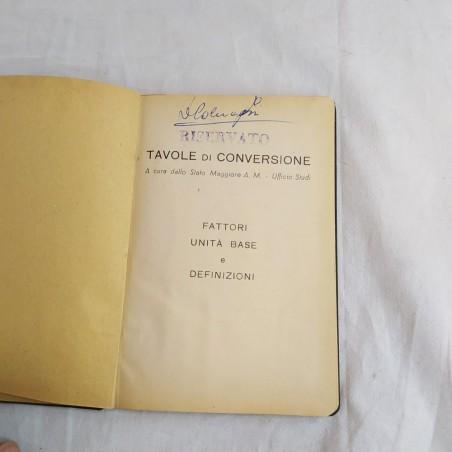 Manuale militare TAVOLE DI CONVERSIONE primi del 900