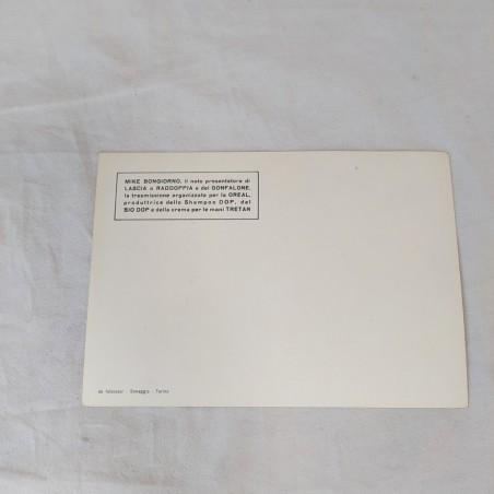 Cartolina con autografo originale MIKE BONGIORNO con dedica a Graziella
