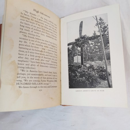 High Adventure - A Narrative of Air Fighting in France dedica anno 1919