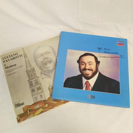 Cofanetto dischi vinile con autografo autentico Luciano PAVAROTTI
