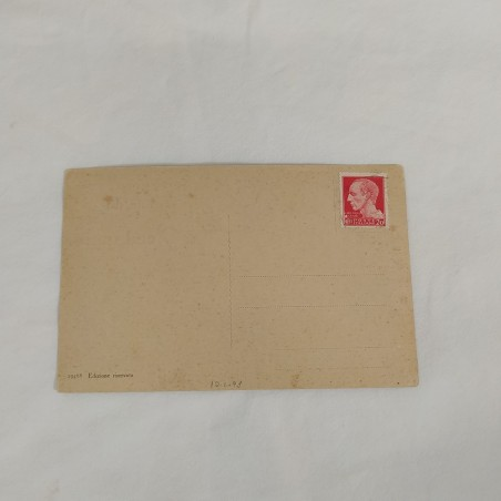 Cartolina illustrata con vista di Predappio francobollo serie imperiale 20 c.
