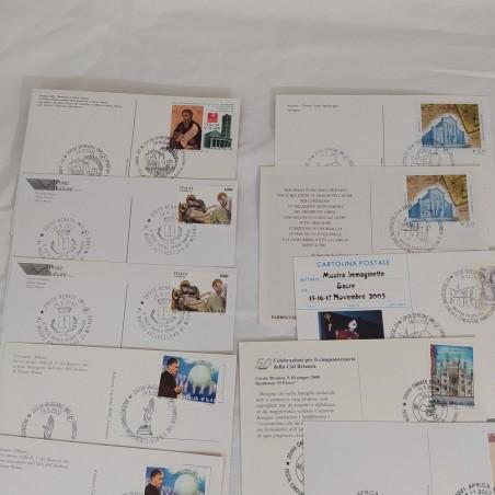 Lotto di 15 cartoline BRIANZA varie località annulli filatelici (qualche doppio)