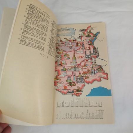 Carta geografica ITALIA IN VESPA - Vespa club Europa 1957