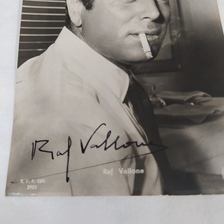 RAF VALLONE cartolina promozionale con autografo originale
