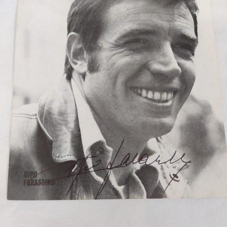GIPO FARASSINO cartolina promozionale con autografo originale