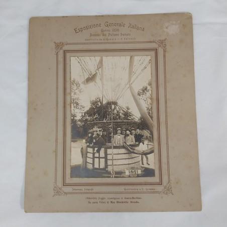 Fotografia originale Ricordo Pallone Frenato Torino 1898 Esposizione Italia