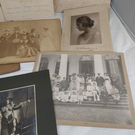 Lotto di 10 fotografie originali di nobili primi anni del 900
