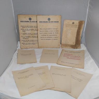 Lotto di documenti convegno internazionale aviatori transoceanici 1932