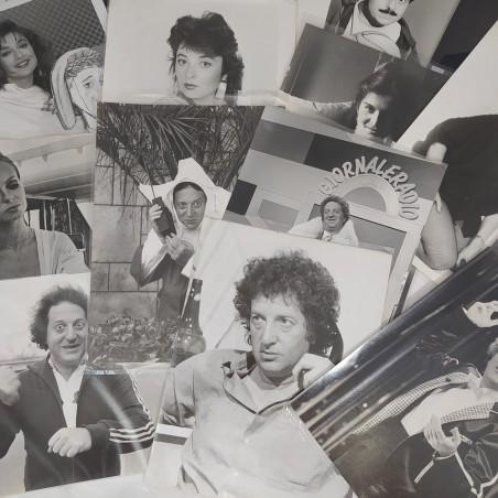 Lotto di 20 fotografie di agenzia, attori e attrici anni 80 formato 17x24 cm
