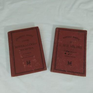 Manuale Hoepli MINERALOGIA DESCRITTIVA e L'ARTE DEL DIRE
