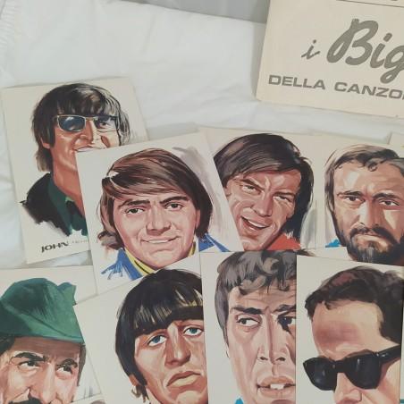 35 cartoline di cantanti i BIG della Canzone disegni di PICCHIONI