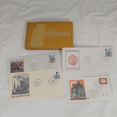 Lotto di 47 buste e cartoline affrncate primo giorno o annulli speciali anni 60