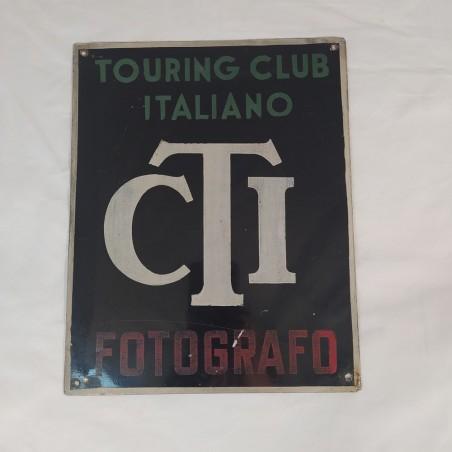 AUTENTICA Targa in metallo Touring Club Italiani TCI Fotografo 22x27 cm