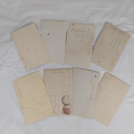Lotto di 8 cartoline anni 20/30 con bambini / ragazzini