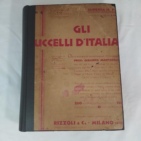 Libro GLI UCCELLI D'ITALIA 1° ed. 1931 copertina restaurata