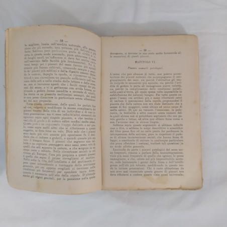 Libro FISIOLOGIA del PIACERE P.Mantegazza 1913