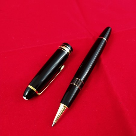 MONTBLANC penna biro 145x13 mm Meisterstuck nera e oro usata