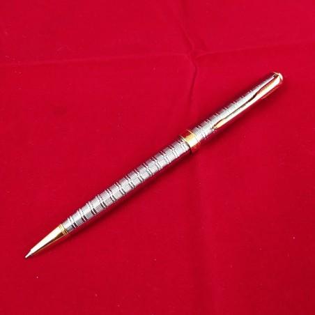 PARKER penna a sfera in acquaio e ottone inusata