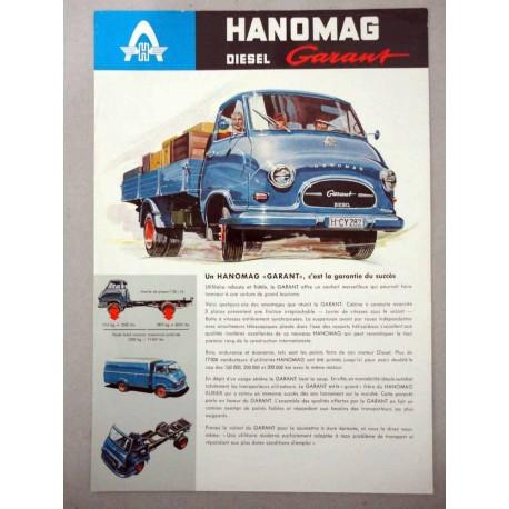 HANOMAG KURIER DIESELGARANT BROCHURE AUTOCARRO FRANCESE 1 PAG. 4/61