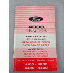 FORD 4000 TRACTOR PARTS CATALOG CATALOGO PARTI DI RICAMBIO 110 PAGINE - OTTIMO